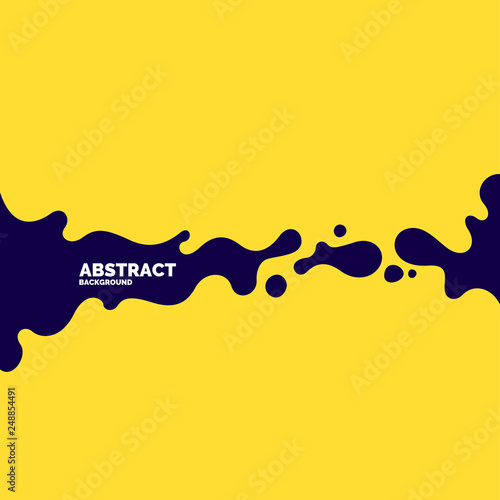 Poster with dynamic waves. Vector illustration in minimal style Wall mural