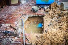 Underground PVC Pipe Of The Wa...