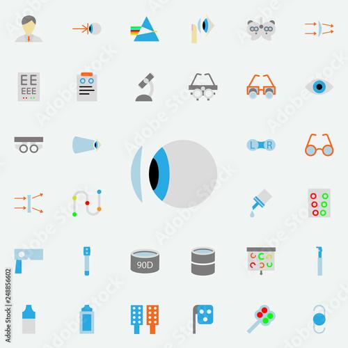 Fotografía contact lens illustration icon