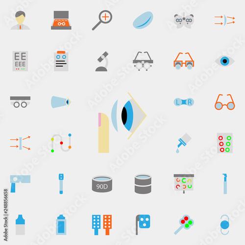Cuadros en Lienzo contact lens illustration icon