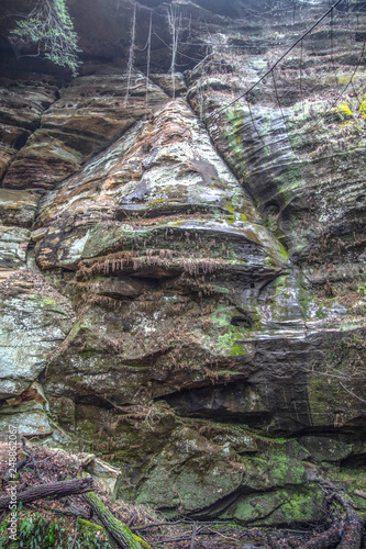 Fotografie, Obraz  Geological Formation Face In The Rock In Hocking Hills Ohio