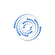 Modern Abstract Halftone Dots Logo