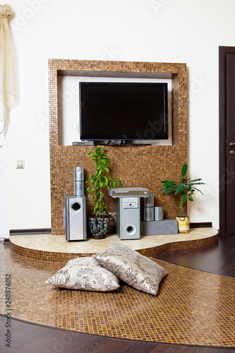 Living Room Hall Modern Design Interior Tv Composition Buy This Stock Photo And Explore Similar Images At Adobe Stock Adobe Stock