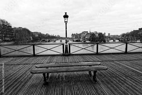 Fototapety, obrazy: Pont aux arts bridge and Seine river in Paris city