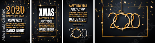 Photo 2020 Happy New Year Background for your Seasonal Flyers and Greetings Card or Ch