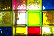 Colored Glass Blocks. Colorful...