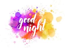 Good Night Handwritten Lettering