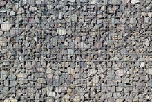 Gabion Rock Wall, Stones In Steel Wire Cage, Decoration Rocks Cube In Garden