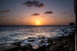 City & Travel: Sunset at the beach of Pietermaai (Willemstad) in Curacao