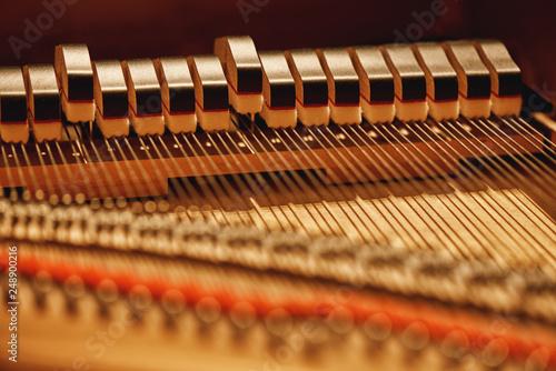 Fotografie, Obraz Inside of a piano