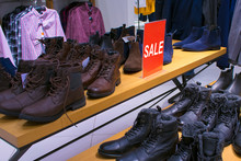 Sale In A Clothing Store