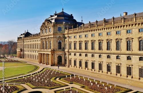 Foto  Würzburg, Residenz, von Osten, Gartenfassade