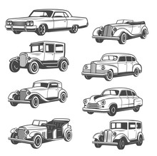 Isolated Vector Monochrome Old...