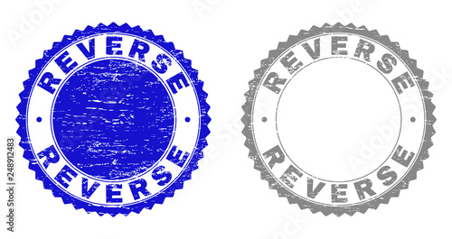 Grunge REVERSE stamp seals isolated on a white background Wallpaper Mural