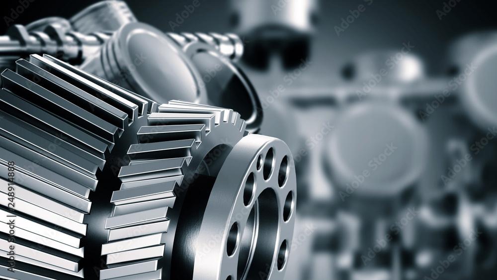 Fototapeta Mechanical Engineering Concept