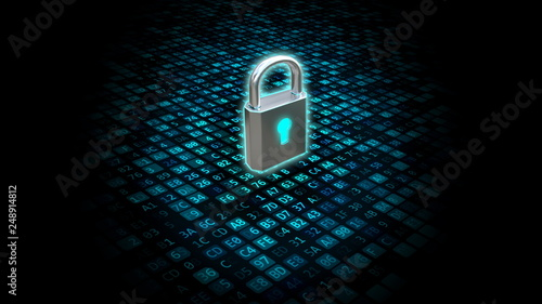 Internet Security and Data Protection Concept Wallpaper Mural