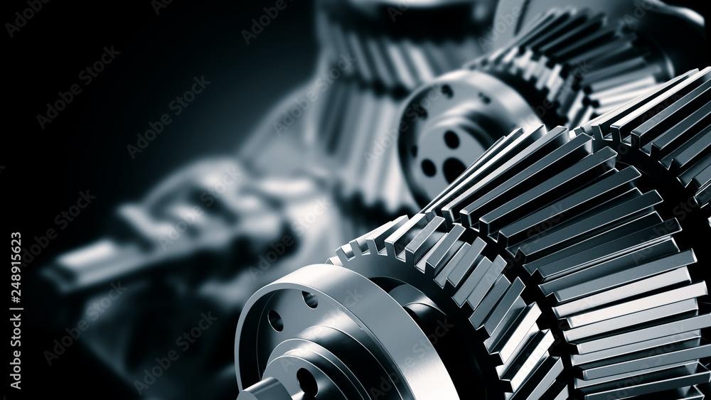 Fototapeta Menchanical or Machine Engineering Background