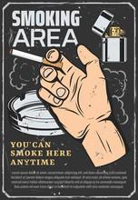 Smoking Area, Cigarette In Han...