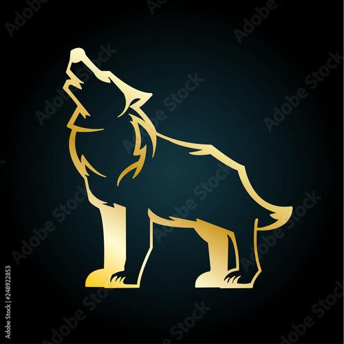 Werwolf Gold Canvas-taulu