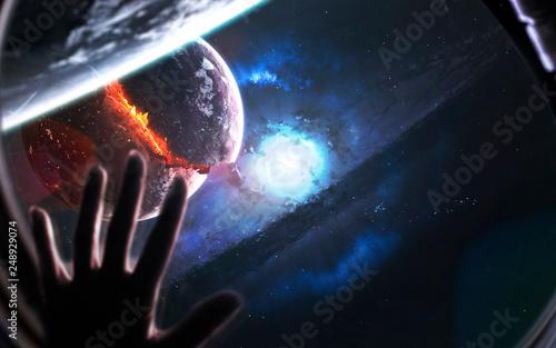 Supernova star explosion. B...