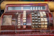 Old Calculator Antique Cash Register, Adding Machines Or Antique Calculator.