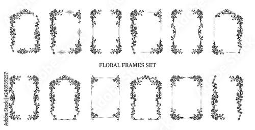 Photo  Graphic frames set