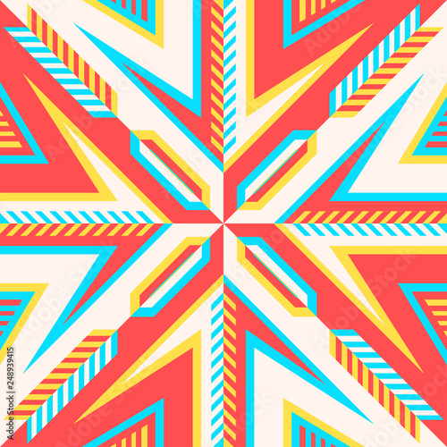 Fotobehang ZigZag scarf pattern