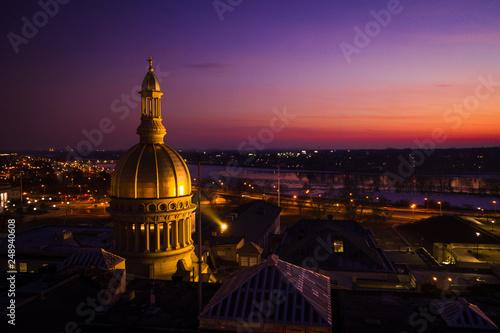 Fotografia, Obraz Aerial Sunset of Trenton New Jersey