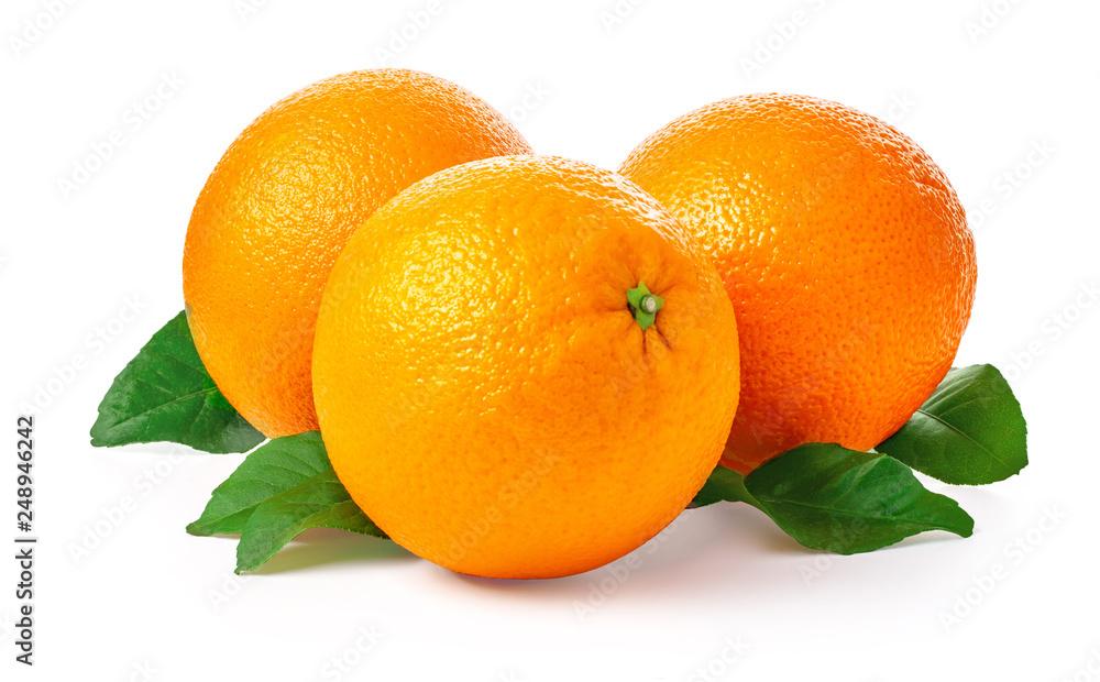 Fototapety, obrazy: Orange fruit isolated