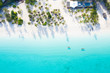 canvas print picture - The beautiful tropical Island of Zanzibar aerial view. sea in Zanzibar beach, Tanzania.