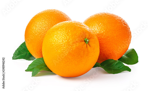 Orange fruit isolated Fototapet