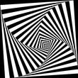 canvas print picture Optical illusion background. Geometric black and white vortex
