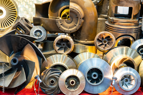 Many type and various of iron casting parts such as housing