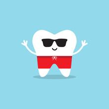 Happy Healthy Tooth In Sunglas...