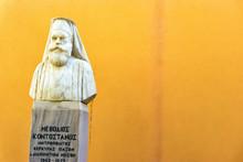 Orthodox Statue In Corfu, Greece.