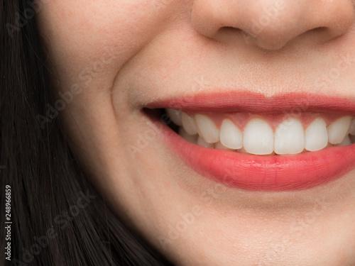 Fotografiet  Closeup shot of Asian Chinese Thai woman female makeup face