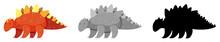 Set Of Stegosaurus Dinosaur Ch...