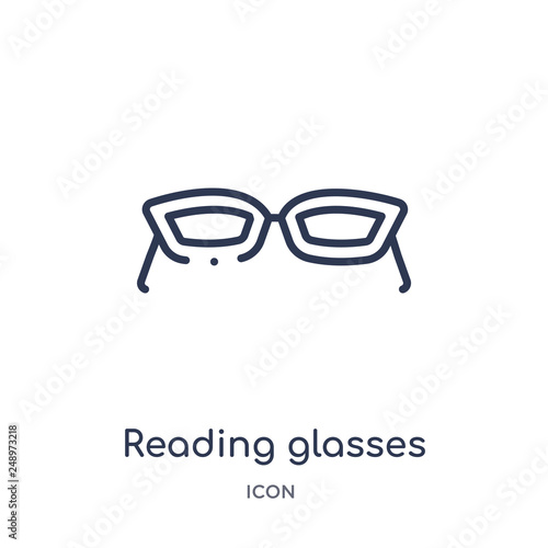 Fotografía  reading glasses icon from tools and utensils outline collection