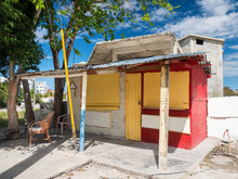 Closed Typical Caribbean Shop