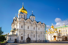 Archangel And Annunciation Cathedrals In Moscow Kremlin