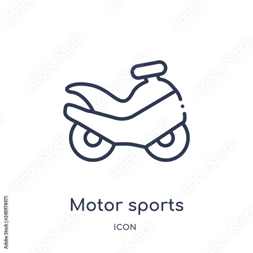 Fotografía  motor sports icon from sports outline collection