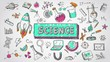 Doodle animation science chemistry physics astronomy biology school education