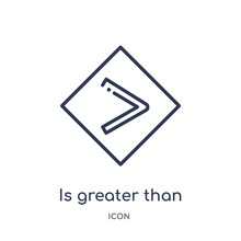 Is Greater Than Icon From Sign...