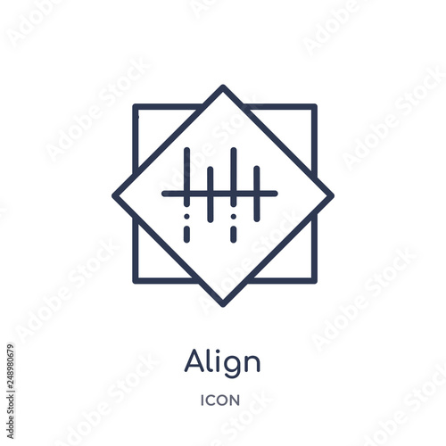 Fotografía  align icon from signs outline collection
