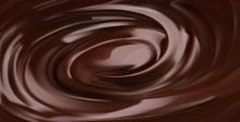 Chocolate Background, 3d Realistic Vector