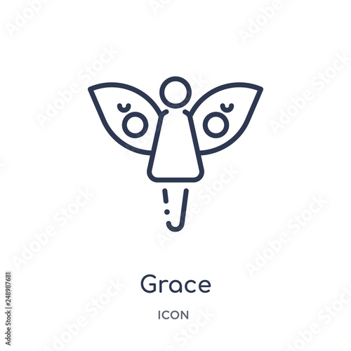 Fotografie, Obraz  grace icon from people outline collection