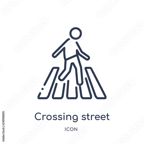 Fotografia crossing street icon from people outline collection
