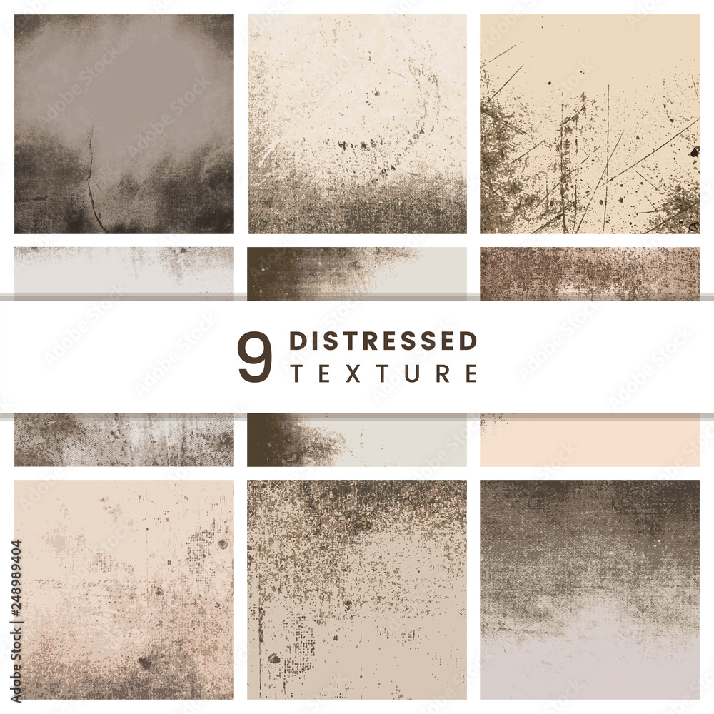 Fototapety, obrazy: Beige distressed patterns set
