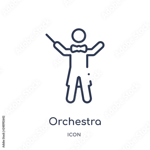Fotografia  orchestra director with stick icon from music outline collection