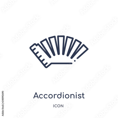 Vászonkép  accordionist icon from music outline collection